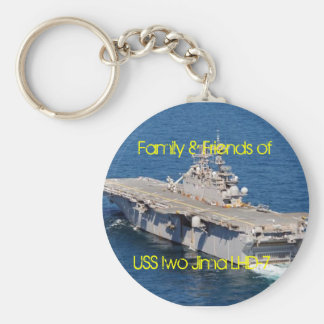 iwo, Family & Friends of, USS Iwo Jima LHD-7 Basic Round Button Key Ring