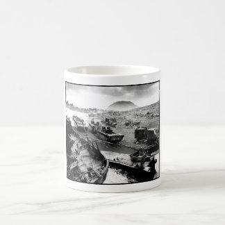 Iwo Jima Beach Painting Coffee Mug