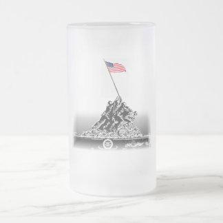 IWO JIMA FROSTED GLASS MUG