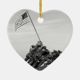 Iwo Jima Memorial Christmas Ornament