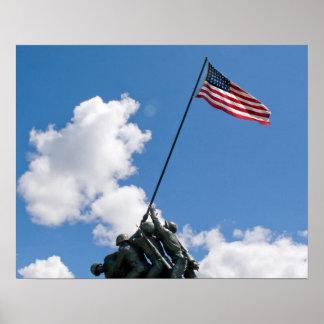 Iwo Jima Memorial Monument Poster