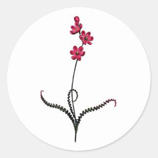 Ixia Crispa Classic Round Sticker