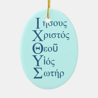 IXOYE Acrostic (Blue) Christmas Ornament