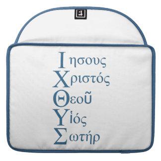 IXOYE Acrostic (Blue) Sleeve For MacBook Pro