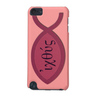 IXOYE Christian Fish Symbol - Red Parchment iPod Touch 5G Case