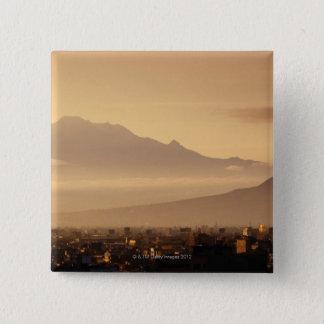 Ixtaccihuatl Volcano 15 Cm Square Badge