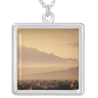 Ixtaccihuatl Volcano Silver Plated Necklace