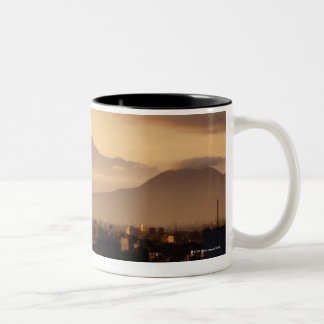 Ixtaccihuatl Volcano Two-Tone Coffee Mug