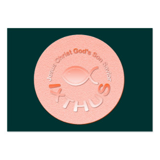 IXTHUS Christian Fish Symbol - COPPER Business Cards