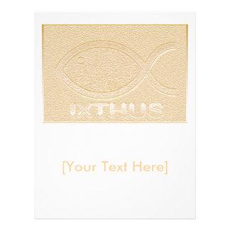 IXTHUS Christian Fish Symbol - Gold Custom Flyer