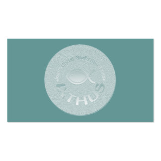 IXTHUS Christian Fish Symbol - Tract Card Business Cards