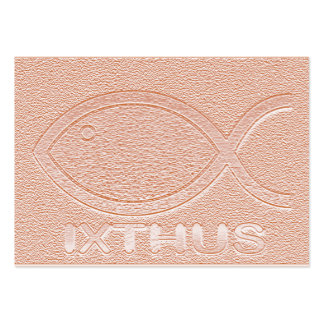 IXTHUS Christian Fish Symbol - Tract Card / Business Card Templates