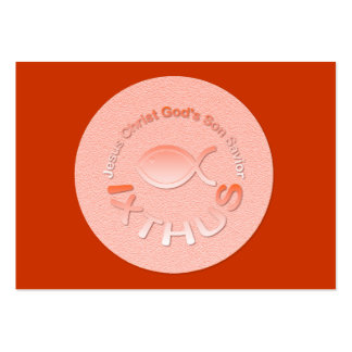 IXTHUS Christian Fish Symbol - Tract Card / Pack Of Chubby Business Cards