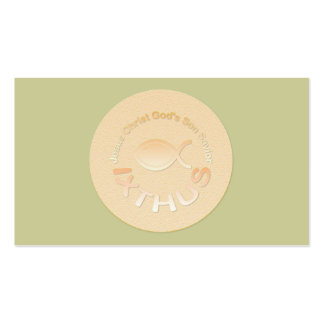 IXTHUS Christian Fish Symbol - Tract Card / Pack Of Standard Business Cards