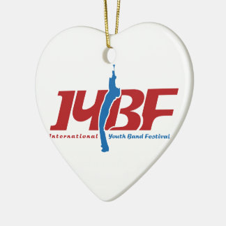 IYBF Logotype Ceramic Heart Decoration