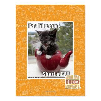 I'z a lil teepot postcard