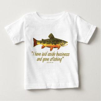 Izaak Walton Fishing Quote Baby T-Shirt
