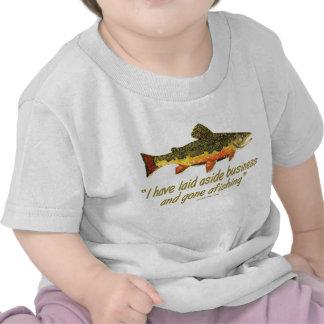 Izaak Walton Fishing Quote T-shirt