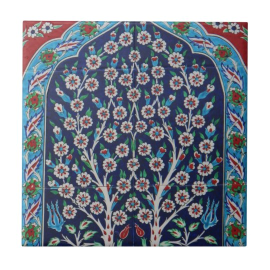 Iznik arabesque ceramics beautiful Ottoman Tile