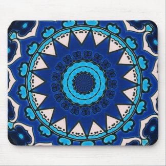 Iznik blue, white, and turquoise tile, Turkey, Mouse Mat