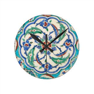 iznik ceramics round clock