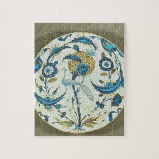 Iznik dish painted with a peacock perched among fl jigsaw puzzle