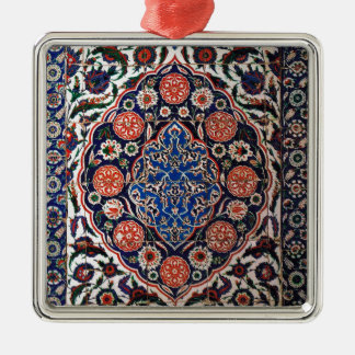 Iznik Floral Ethnic Tribal Turkish Mosaic Pottery Christmas Ornament