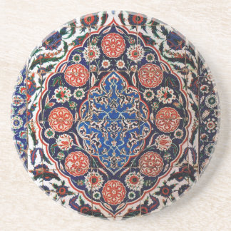 Iznik Floral Ethnic Tribal Turkish Mosaic Pottery Coaster