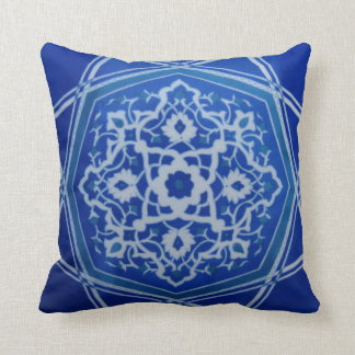 Iznik Floral Ethnic Tribal Turkish Mosaic Pottery Cushion