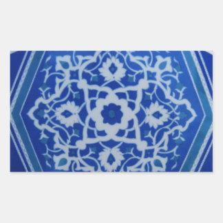 Iznik Floral Ethnic Tribal Turkish Mosaic Pottery. Sticker