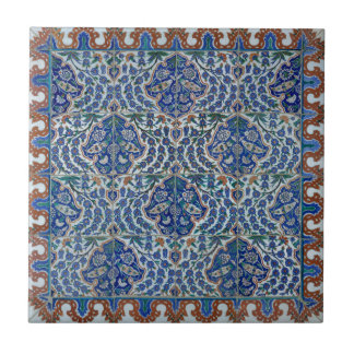 Iznik Floral Ethnic Tribal Turkish Mosaic Pottery Tile