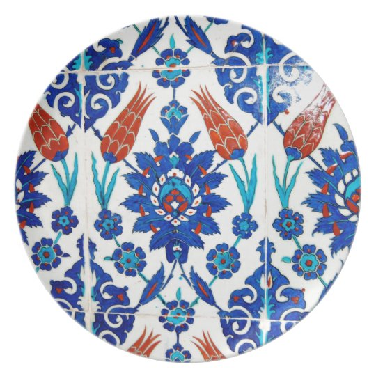 Iznik Oriental Tile Design Plate