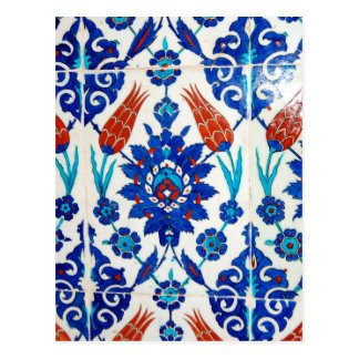 Iznik Oriental Tile Design Postcard