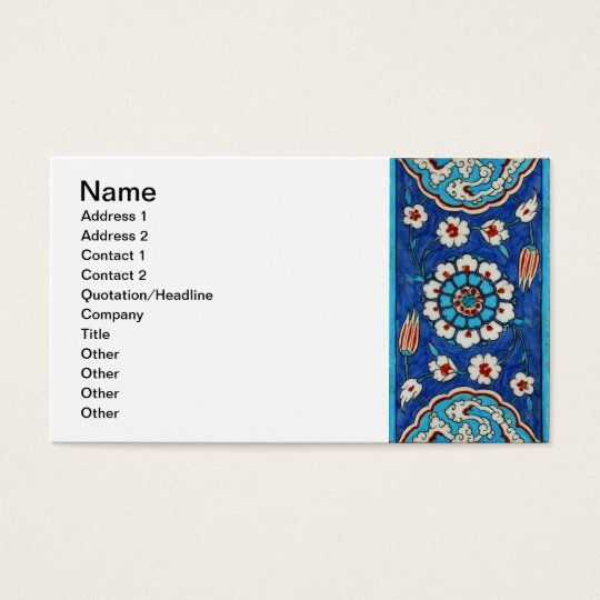 iznik tile Business Card