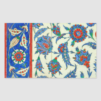 iznik tile rectangular sticker
