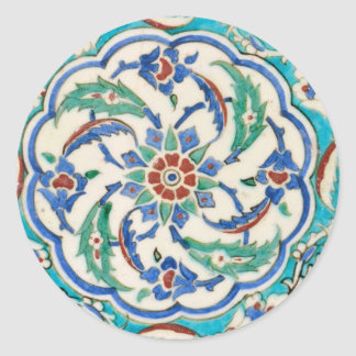 iznik tile round sticker