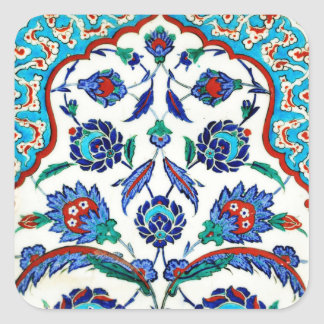 iznik tile square sticker
