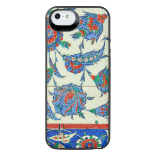 Iznik tile, turkish floral design iPhone SE/5/5s battery case