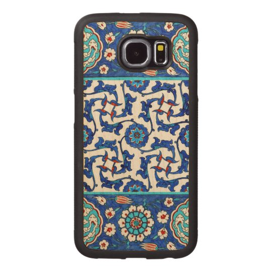 iznik tile wood phone case
