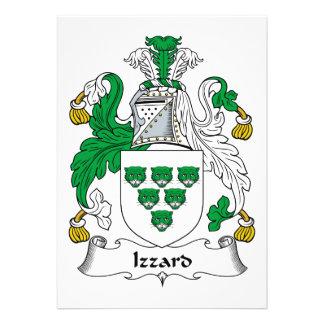 Izzard Family Crest Custom Announcements