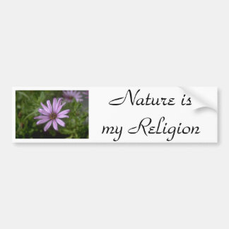 j0145356, Nature ismy Religion Bumper Sticker