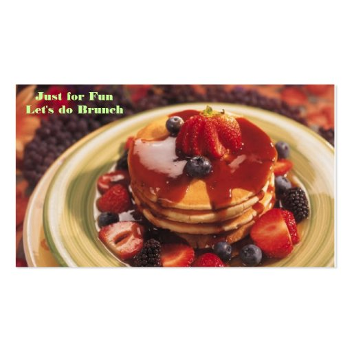 j0182703, Just for Fun Let's do Brunch Double-Sided Standard Business Cards (Pack Of 100)