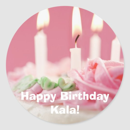 j0422320, Happy Birthday Kala! Classic Round Sticker