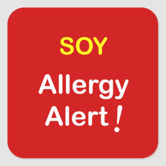 j4 - Allergy Alert - SOY. Square Stickers