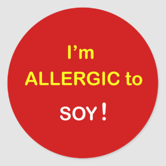 j5 - I'm Allergic - SOY. Classic Round Sticker