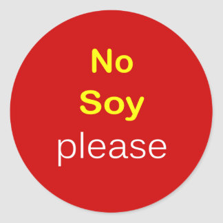 j8 - Food Request ~ NO SOY PLEASE. Sticker