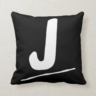 "J - 16""x16"" cotton pillow"