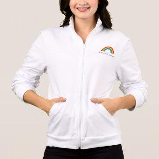 J aime les femmes with rainbow jackets