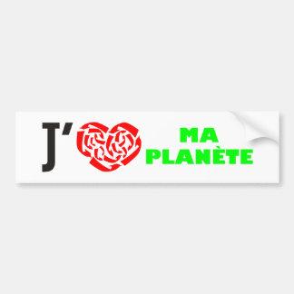 J aime ma Planete Bumper Sticker