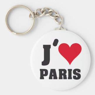 J´AIME PARIS BASIC ROUND BUTTON KEY RING